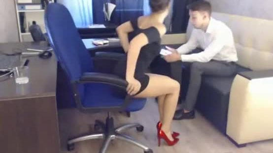 Hot account manager & his boss - live from office